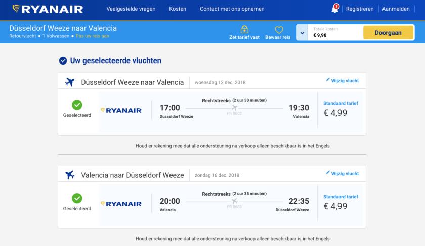 Valencia-goedkope-vlucht